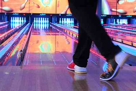 World Of Bowling - One Hour Bowling and Large Pizza for Six - Save 51%