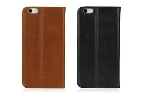 Groupon Goods Global GmbH - Leather Wallet Case for iPhone 6 Plus in Black or Brown - Save 0%