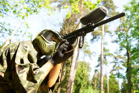 Paintball Park - Paintballing day for five with 100 paintballs and a hot lunch each - Save 88%