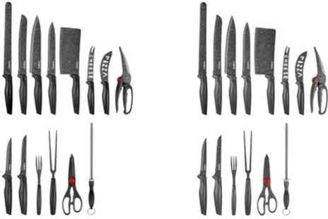 Groupon Goods Global GmbH - Tower 24 Piece Stone Coated Knife Set With Free Delivery - Save 58%