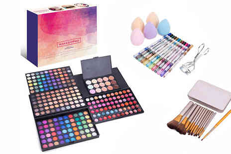 Newtonstein Corp - 291 Piece Ultimate Make Up Kit Includes Brushes, Sponges, Eyeshadow and More - Save 0%