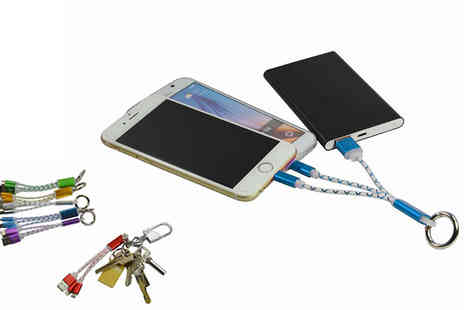 The Home & Gadget Store - Keyring Double Charger for Apple and Android Six Colours - Save 0%