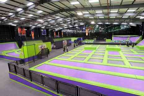 Jump Giants - One or Two Hour Trampoline Park Access for Up to Four - Save 32%