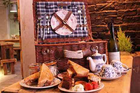 The Old Packet House - Picnic basket afternoon tea for two include a glass of Prosecco each - Save 25%