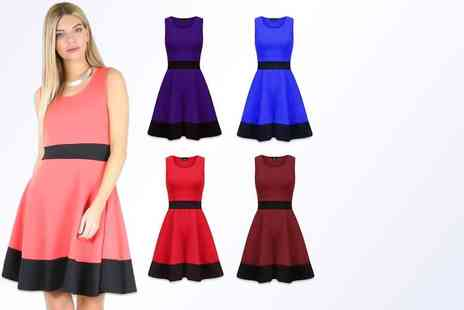 Bejealous - Amy Panel Skater dress sizes 8 to 14 or sizes 16 to 22 - Save 58%