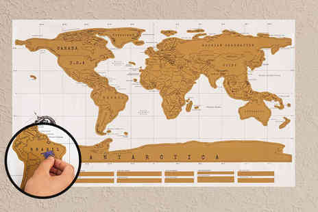 Sashtime - Scratch off world map - Save 53%
