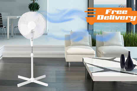 M&M - 3 Speed Oscillating Extendable Fan WIth Free Delivery - Save 0%