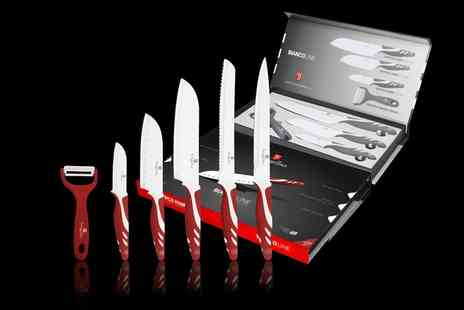 Groupon Goods Global GmbH - Berlinger Haus Five Piece Knife Set With Peeler in Choice of Colour - Save 0%