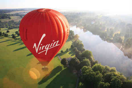 Virgin Balloon Flights -  Anytime Plus hot air balloon experience with Champagne for one person - Save 50%