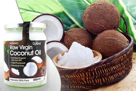 Orion GB - One,two or three 500ml jar of raw organic virgin coconut oil - Save 65%