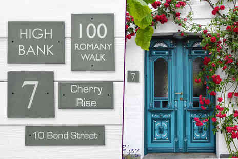 Country House Signs - Personalised slate house sign pick from 5 designs - Save 48%
