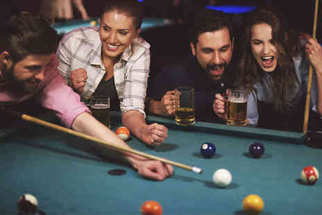 Prime Enterprises - Two Hours of Pool With Pizza and Drink for 2 or 8 People - Save 0%