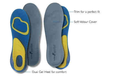 Sole Control - Pair of luxury sports gel insoles - Save 86%