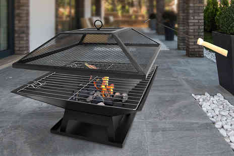 UK Home & Garden Store - An outdoor garden fire pit and BBQ grill - Save 78%
