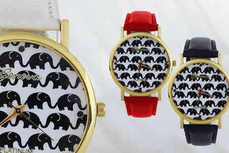 Bentleys Bargain Warehouse - Elephant Geneva Watch in 4 Colours - Save 20%
