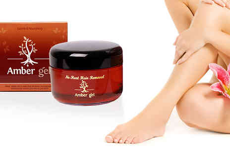 Amber Gel - 50ml Jar Heat Free Hair Removal Gel - Save 42%