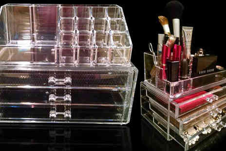 Techccessorize - Clear Acrylic Make Up Organiser - Save 0%