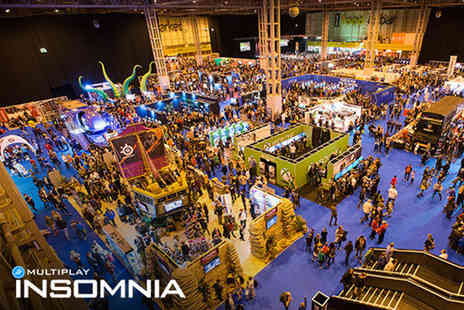 Insomnia Gaming Festival - Day visitor ticket to Insomnia Gaming on 26th Aug to 29th Aug 2016 - Save 30%