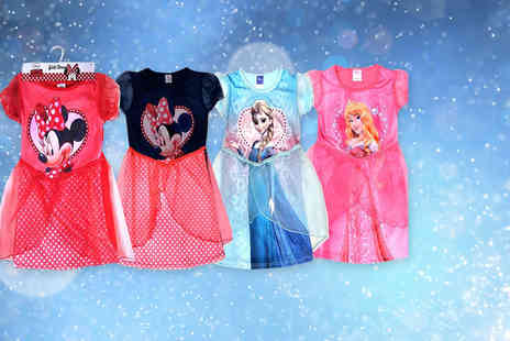 Sashtime - Disney girls party dress choose from Elsa, Minnie or Sleeping Beauty - Save 67%