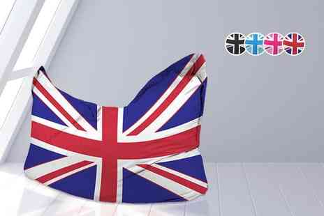 UK Beanbags - Union Jack beanbag choose from four colours - Save 76%