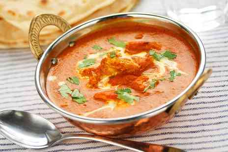 Sahara Lounge - Two Course Indian Meal with Rice or Naan for Two or Four - Save 46%