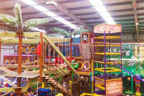 Mister Twisters Wacky World of Fun - Soft Play with Optional High Ropes for Up to Three - Save 66%