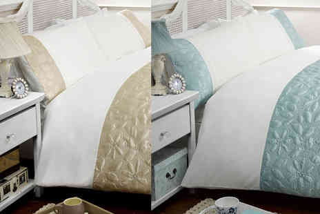 Linens R Us  - A single Gracie duvet set - Save 70%