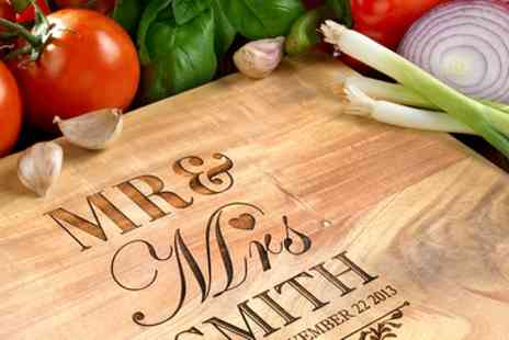 Photobook Shop - Personalised Acacia Wood Cutting Board - Save 83%