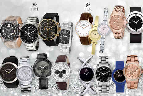 Brand Logic - Mystery watch for him or her brands include Daniel Wellington, Armani, Michael Kors, Swiss Military, Hugo Boss - Save 0%