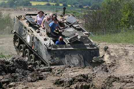 Tank Mania - Trio of Tracks  tank ride experience for one, two or four - Save 68%