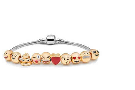 My Boutique Store - Emoji gold plated charm bracelet - Save 84%
