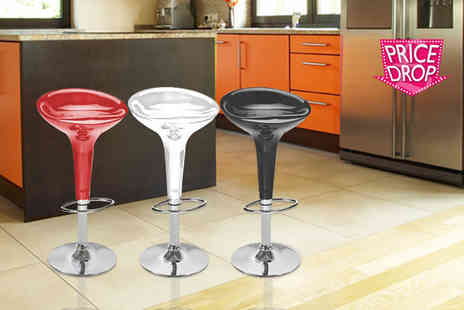 direct2publik - Ttwo breakfast bar stools in one of five colours - Save 64%