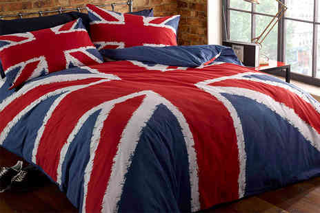 Linens R Us - Single Union Jack duvet set - Save 74%