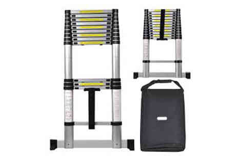 Deal Champion Goods - Multi Purpose Aluminium Telescopic Ladder Extendable Steps with Carry Bag - Save 76%