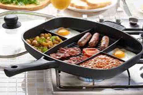 Deal Champion Goods - Master Frying Pan Grill Multi Section Five In One - Save 67%