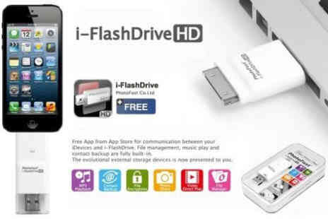 Deal Champion Goods - 32GB USB iFlash Flash Drive Memory Stick iPhone or iPad - Save 63%