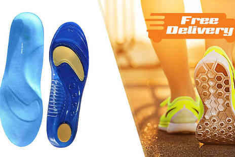 Sole Control - Sole Control Full Length Gel Insoles 1 or 2 Pairs Available in Three Sizes With Free Delivery - Save 77%