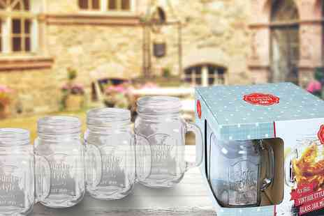 Wowcher Direct - Pack of 4 mason jars without lid - Save 64%