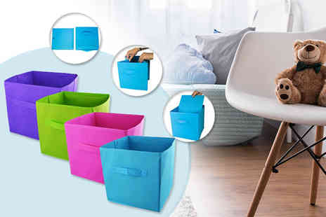 Yes Online - Folding storage cubes choose from five fabulous colour options - Save 50%