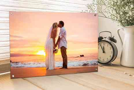 Your Perfect Canvas - Personalised acrylic canvas choose from four sizes - Save 80%