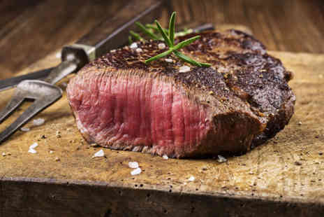 Aberdeen Steak House - Steak dinner for two with a glass of Champagne each and olives - Save 64%