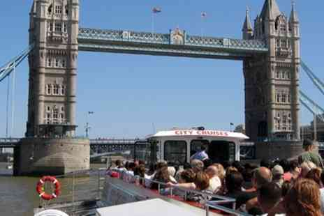 City Cruises - Thames River Red Rover Three Day Pass for a Child or Adult, Choice of Locations - Save 50%