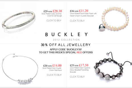Buckley - 30% off all Jewellery - Save 30%