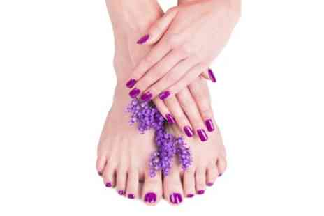 Hair de la Reine - Choice of Manicure or Pedicure or Both - Save 0%