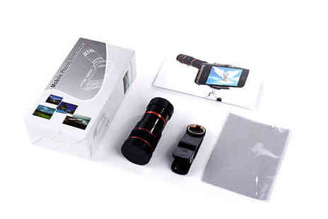 The Home & Gadget Store - Clip On 8x Optical Zoom Lens for Smartphones and Tablets - Save 0%
