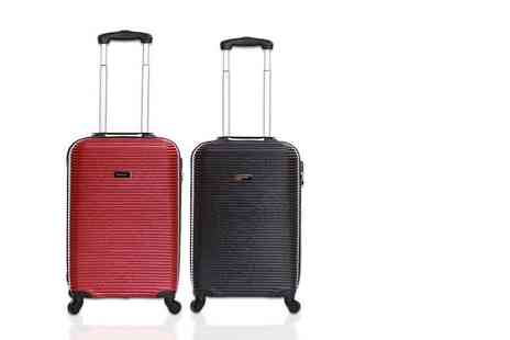 Karabar - Cabin approved wheeled suitcase choose from red or black - Save 80%