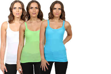 Stitch Trading - Six pack ribbed vest tops choose your colours - Save 41%