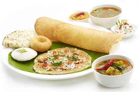Crispy Dosa Restaurant - Two Course Indian Meal for Two or Four - Save 35%