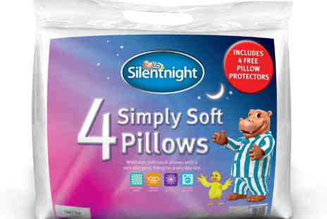 Deal Champion Goods - Silentnight Simply Soft Pillow in 4 Pack - Save 57%