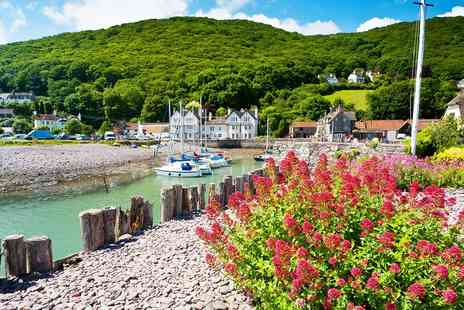 The Cafe Porlock Weir - Exmoor Coast: Meal, Bubbly & Overnight Stay for 2 - Save 53%